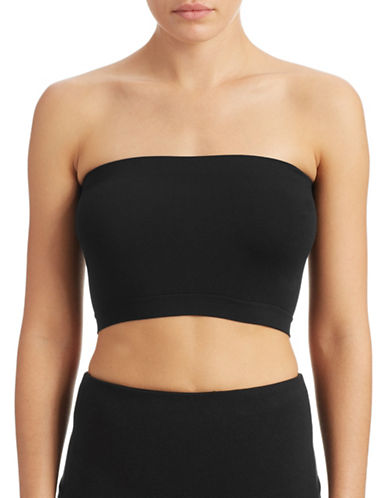 Design Lab Lord & Taylor Seamless Bandeau Top-BLACK-One Size