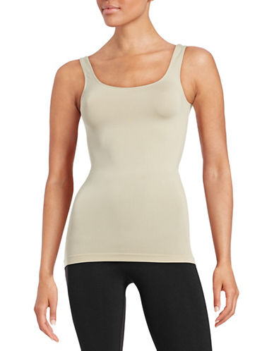 Design Lab Lord & Taylor Seamless Tank Top-BEIGE-One Size 87883387_BEIGE_One Size