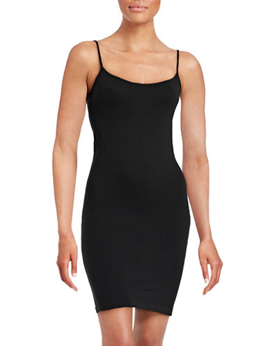 Design Lab Lord & Taylor Seamless Tunic Camisole-BLACK-One Size