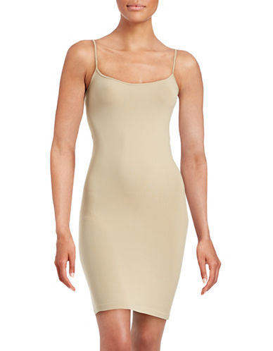 Design Lab Lord & Taylor Seamless Tunic Camisole-BEIGE-One Size