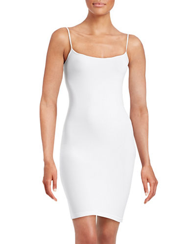Design Lab Lord & Taylor Seamless Tunic Camisole-WHITE-One Size