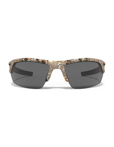 Under Armour Igniter 66mm Mirrored Sunglasses-REAL WOOD-One Size