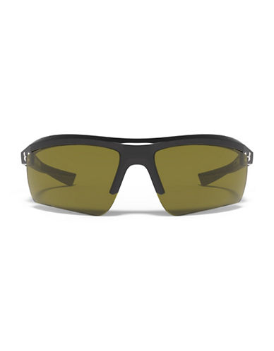 Under Armour Core 69mm Mirrored Sunglasses-BLACK/CHARCOAL-One Size