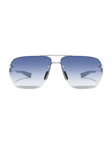 Under Armour Hi Roll 64mm Ful Vue Sunglasses-SILVER/BLUE-One Size