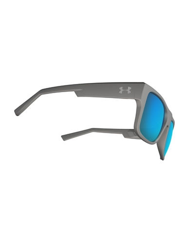 Under Armour Regime 53mm Wayfarer Sunglasses-GREY-One Size