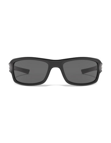 Under Armour Edge 56mm Biker Sunglasses-BLACK/GREY-One Size 88255445_BLACK/GREY_One Size