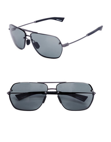 Under Armour Hi Roll 64mm Ful Vue Sunglasses-GREY-One Size