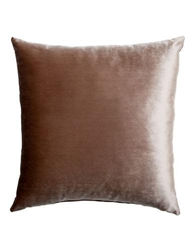 Glucksteinhome Henson Velvet Cushion-WALNUT-20x20