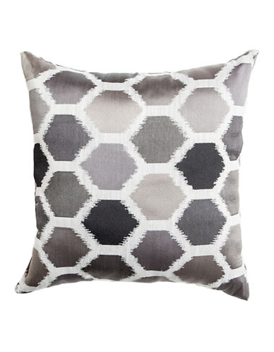 Home Outfitters Ikat-Print Pillow-BLACK-18x18