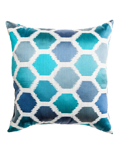 Home Outfitters Ikat-Print Pillow-BLUE-18x18