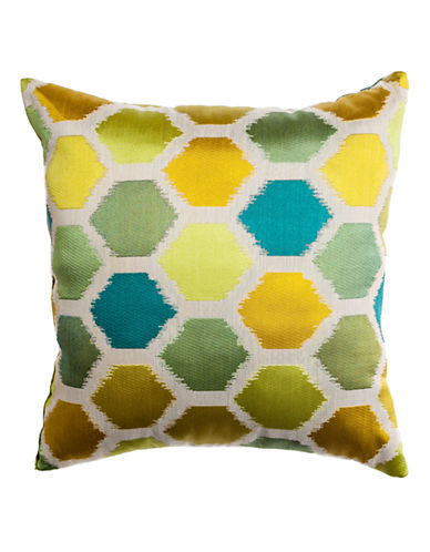 Home Outfitters Ikat-Print Pillow-GREEN-18x18