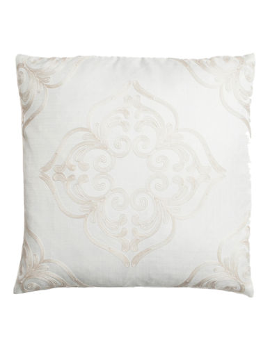 Home Outfitters Embroidered Mosaic Throw Pillow-CREAM-20x20