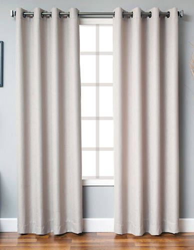 Distinctly Home Single Panel Grommet Top Curtain-TAUPE-95 inches