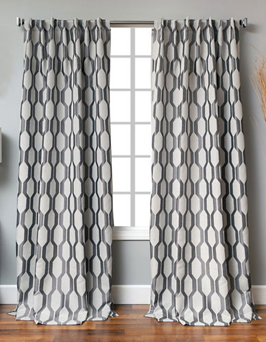 Distinctly Home Back Tab Linen-Blend Window Panel-GREY-84 inches
