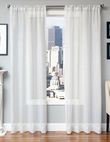 Distinctly Home Galaxy 84-Inch Rod Pocket Window Panel-WHITE-84 inches