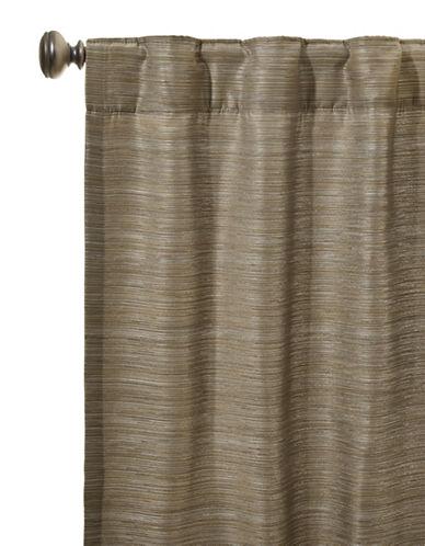 Glucksteinhome Emery Rod Pocket or Back Tab Curtain-SLATE-One Size