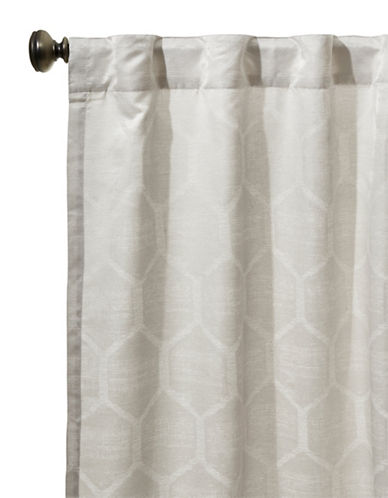 Glucksteinhome Emerson Honeycomb Back Tab Curtain-IVORY-96 inches