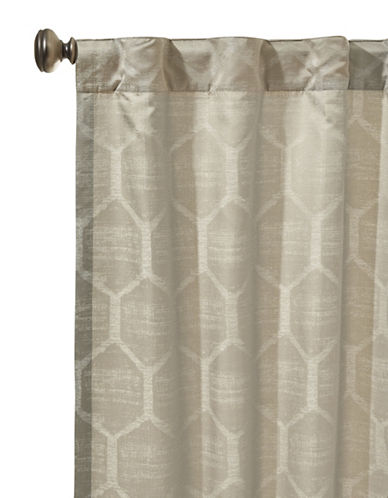 Glucksteinhome Emerson Honeycomb Back Tab Curtain-TAUPE-96 inches