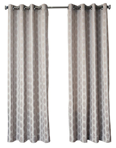 Distinctly Home Finley Grommet Drape-TAUPE-84 inches