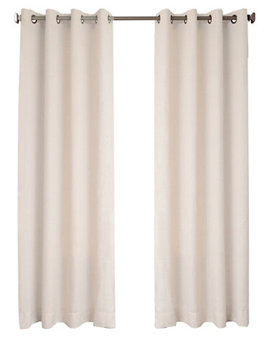 Distinctly Home Britton 84-Inch Grommet Drape-WHITE-84 inches