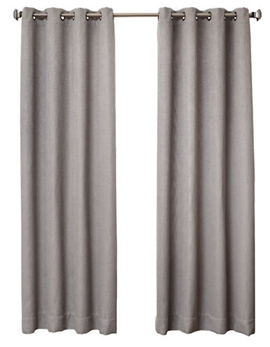 Distinctly Home Britton 84-Inch Grommet Drape-PLATINUM-84 inches
