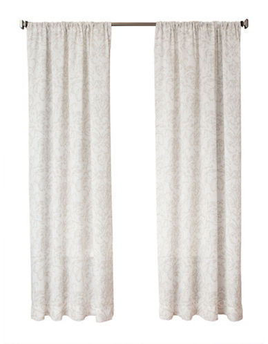 Glucksteinhome 84-Inch Sorrento Drape-NATURAL-96 inches