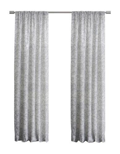 Glucksteinhome 84-Inch Sorrento Drape-LIGHT GREY-84 inches
