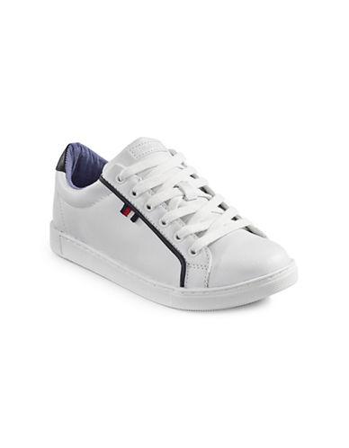 Tommy Hilfiger Kenton Striped Sneakers-WHITE-6