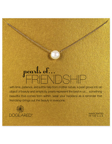 Dogeared pearls of Friendship Pearl Single Strand Necklace-PEARL-One Size