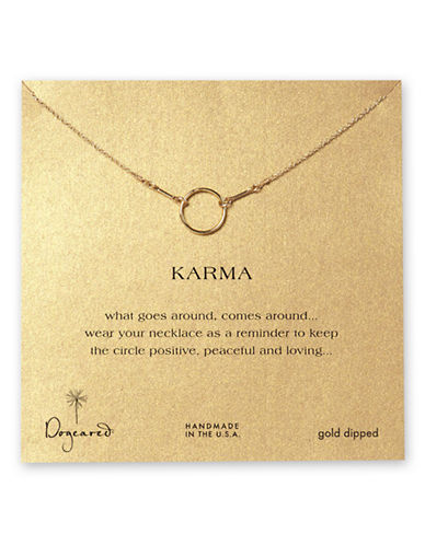 Dogeared Karma Circle Necklace-GOLD-One Size