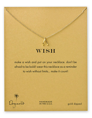 Dogeared Wish Necklace-GOLD-One Size