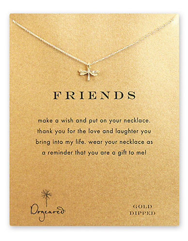 Dogeared Friends Dragonfly Necklace-GOLD-One Size