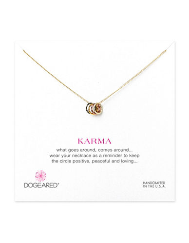 Dogeared Tiny Sparkle Karma Necklace-GOLD-One Size