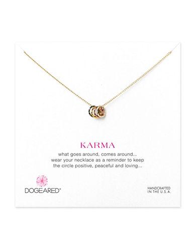 Dogeared Tiny Sparkle Karma Necklace-GOLD-One Size