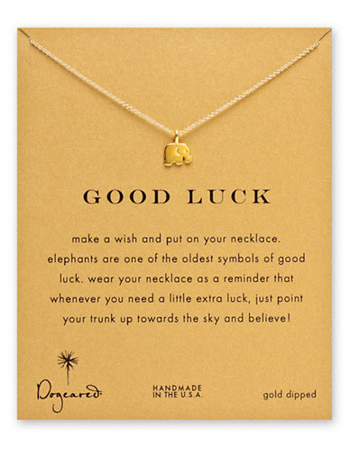 Dogeared Good Luck Elephant Necklace-GOLD-One Size
