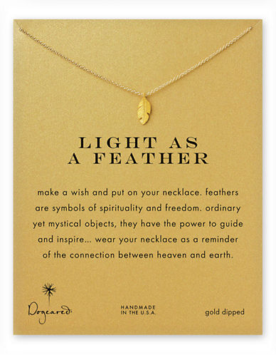 Dogeared Light As A Feather Necklace-GOLD-One Size