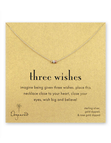 Dogeared Three Wishes Stardust Bead Necklace-MIXED METALS-One Size