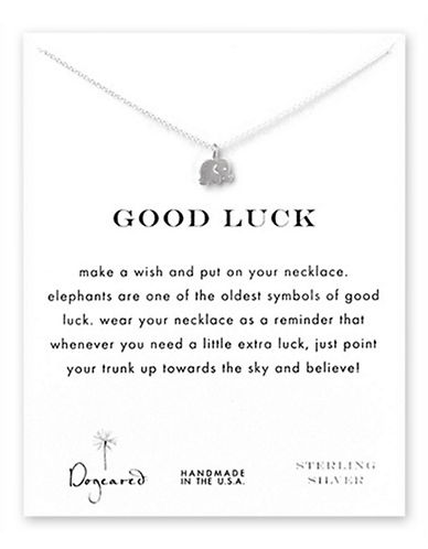Dogeared Good Luck Elephant Necklace-SILVER-One Size