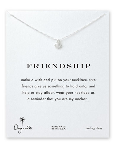 Dogeared Freindship Anchor Necklace-SILVER-One Size