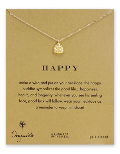 Dogeared Happy Buddha Necklace-GOLD-One Size