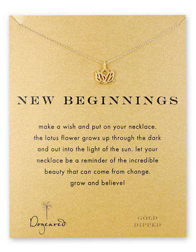 Dogeared new beginnings rising lotus-GOLD-One Size