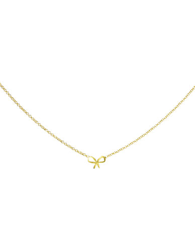 Dogeared Forget Me Knot Necklace-GOLD-One Size