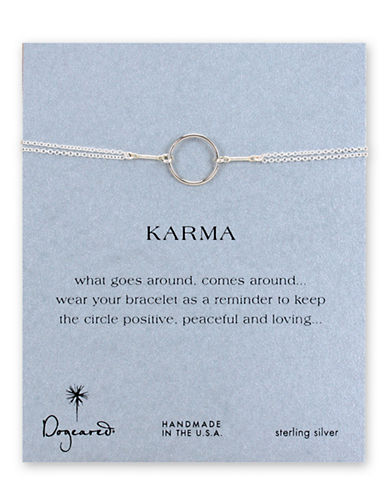 Dogeared Karma Collection Sterling Silver Chain Bracelet-SILVER-One Size