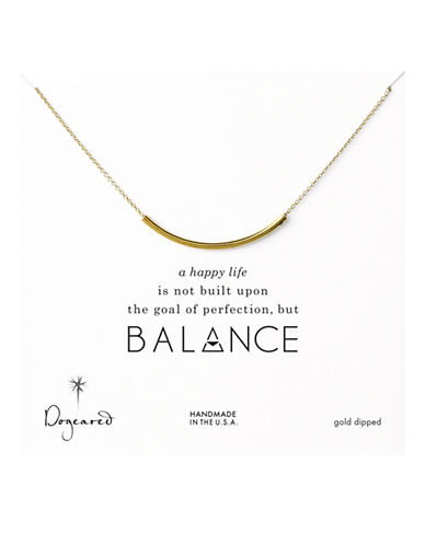 Dogeared Balance Collection Gold Plated Single Strand Necklace-GOLD-One Size