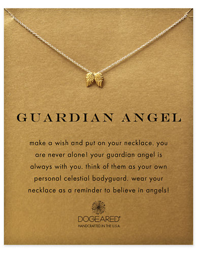 Dogeared Reminder Guardian Angel Single Strand Necklace-GOLD-One Size