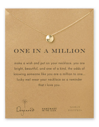 Dogeared Reminder Collection Pendant Necklace-GOLD-One Size