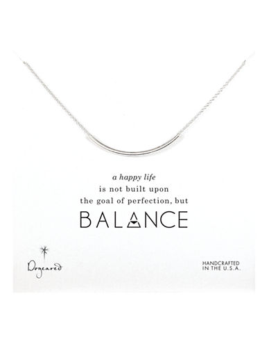 Dogeared Balance Collection Gold Plated Single Strand Necklace-SILVER-One Size