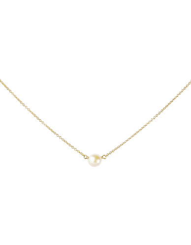 Dogeared Bridal Pearl Necklace-GOLD-One Size