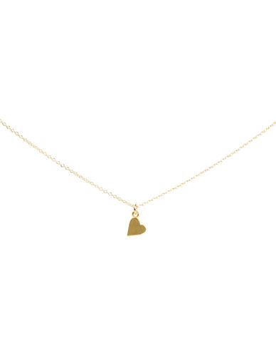 Dogeared Sideways Heart Charm Necklace-GOLD-One Size