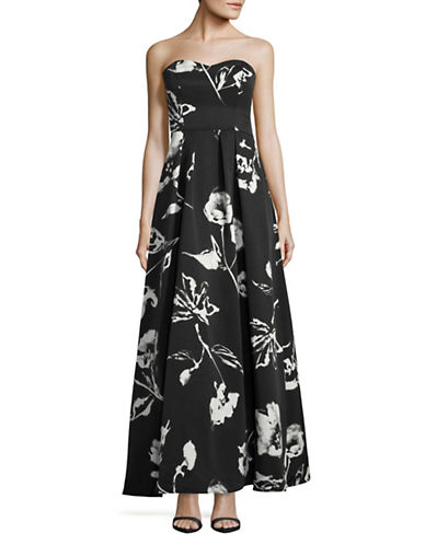 Decode 1.8 Strapless Sweetheart Floral Ballgown-BLACK-0